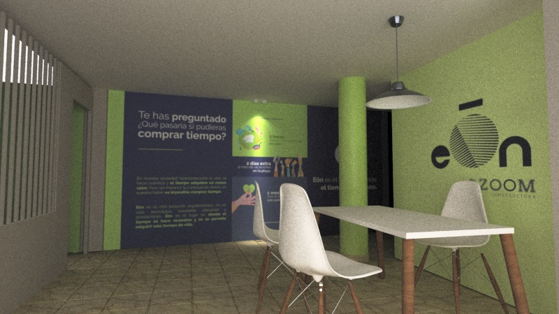 Sala de Ventas temporal eón de Zoom Constructora Bogotá