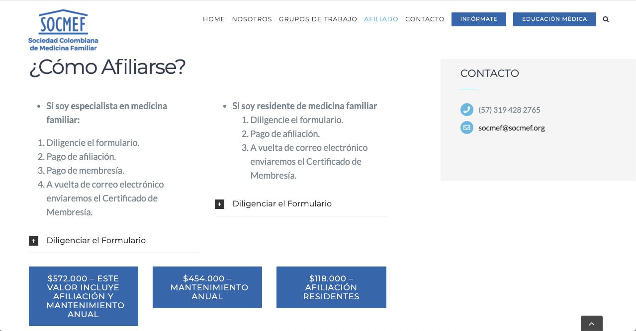 SOCMEF Sociedad Colombiana de Medicina Familiar Maple